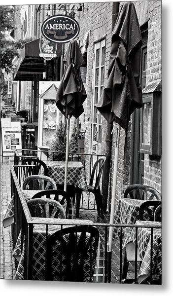 Outside Dining  Metal Print