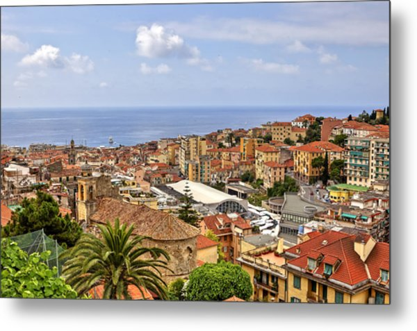 Over The Roofs Of Sanremo Metal Print