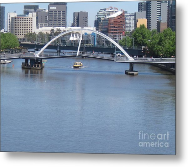 Over The Yarra Metal Print by Donna Cavender