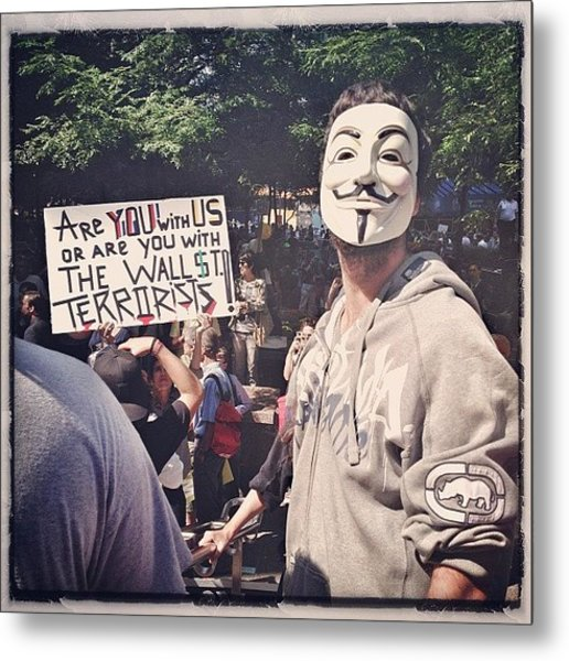 Ows Occupy Wall Street Metal Print