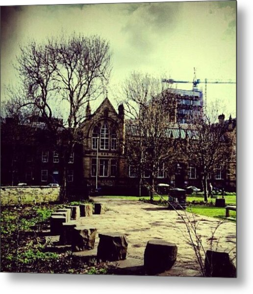 #oxfordroad #manchester #trees Metal Print
