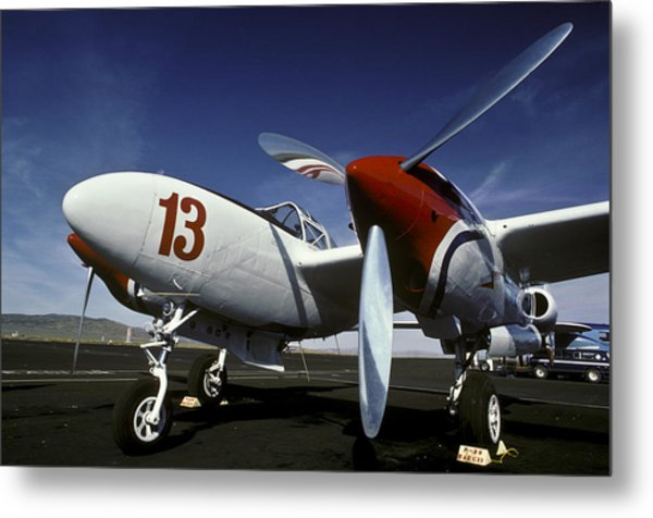 P-38 Lightning Lucky 13 Metal Print