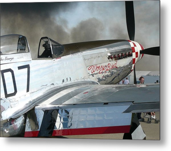 P-51 Worry Bird Metal Print