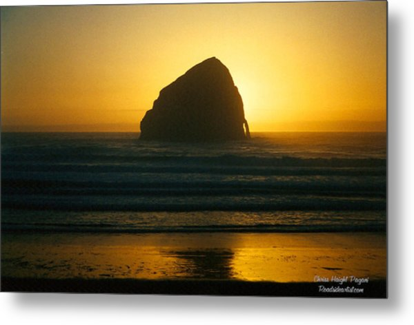 Pacific City Sunset Metal Print