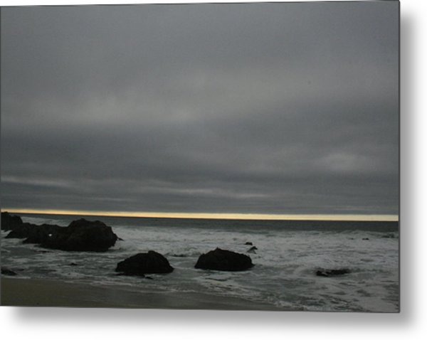 Pacific Ocean At Bodega California Metal Print
