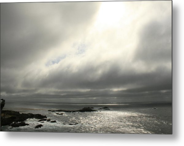 Pacific Ocean At Point Lobos California Metal Print