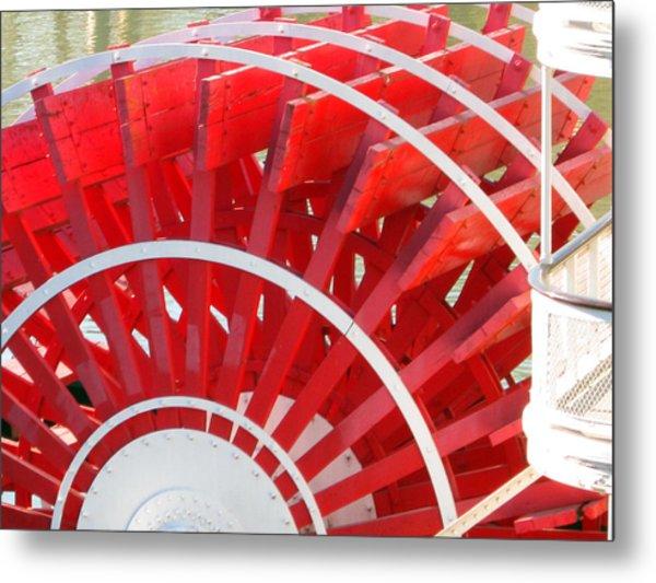 Paddle Wheel Metal Print by Barry Jones