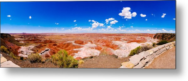 Painted Desert Panorama Metal Print by David Waldo