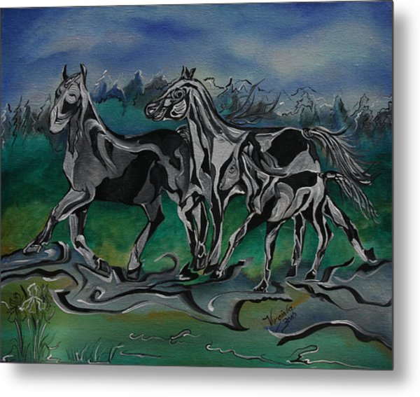 Painted Horses Metal Print