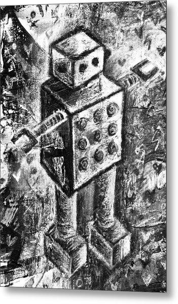 Painted Robot 1 Of 6 Metal Print