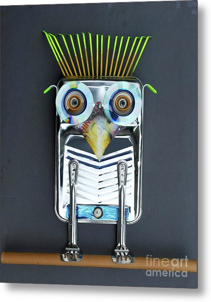 Painter Owl Metal Print