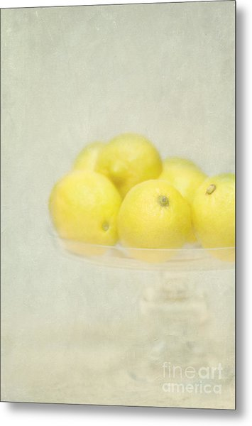 Painterly Lemons Stilllife Metal Print