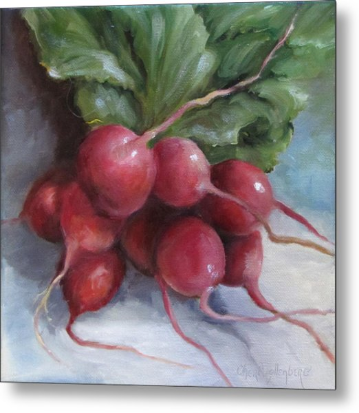 Painting Of Radishes Metal Print
