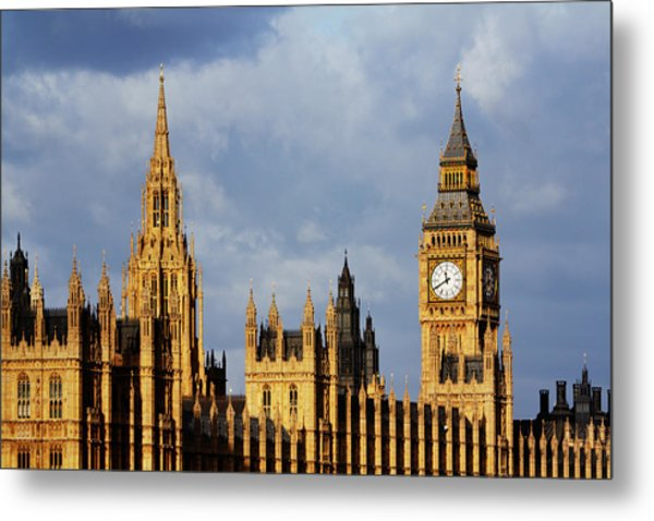 Palace Of Westminster In Winter Sunlight Metal Print by Christopher Hope-Fitch