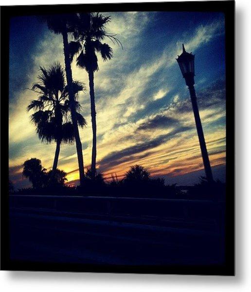 #palm Trees #sunset #sky #beautiful Metal Print