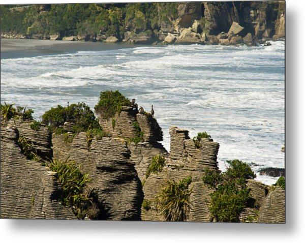 Pancake Rock Formations Metal Print by Graeme Knox