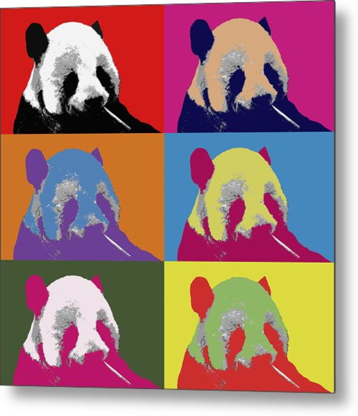 Panda Pop Art 2 Metal Print