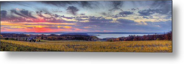 Panorama From Old Mission Peninsula Metal Print