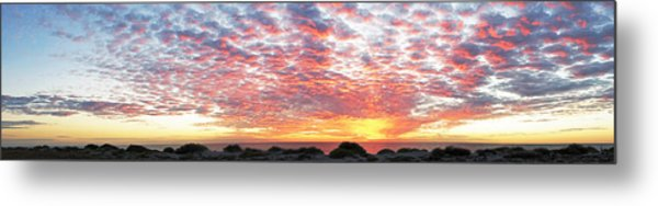 Panoramic Beach Sunset Metal Print