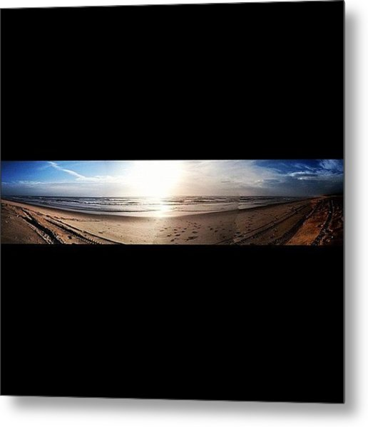 Panoramic Picture Of The Sunrise Metal Print