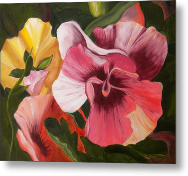 Pansies Metal Print by Yvonne Knight
