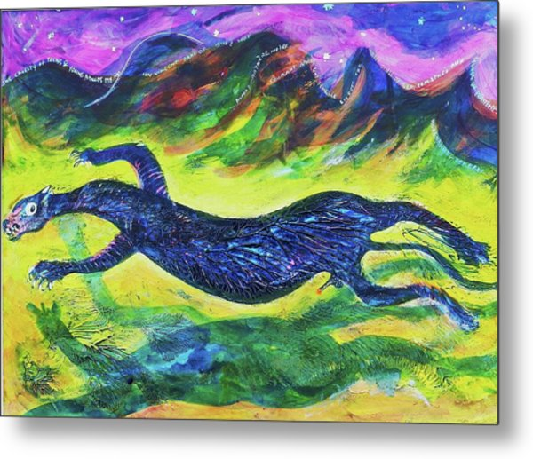 Panther In The Springtime Metal Print by Ion vincent DAnu
