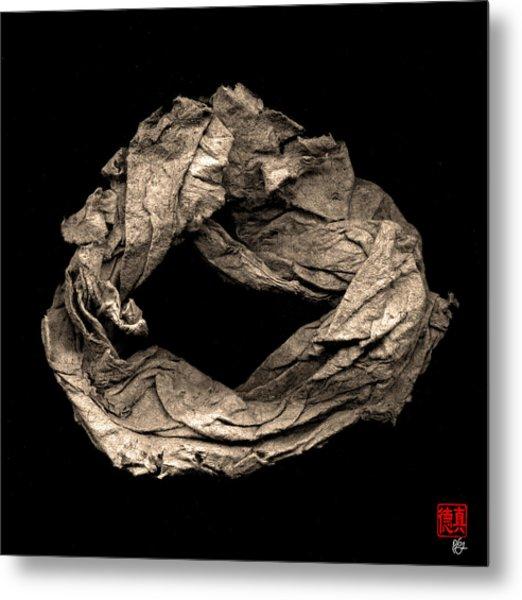 Paper Sculpture Zen Enso 1 Metal Print