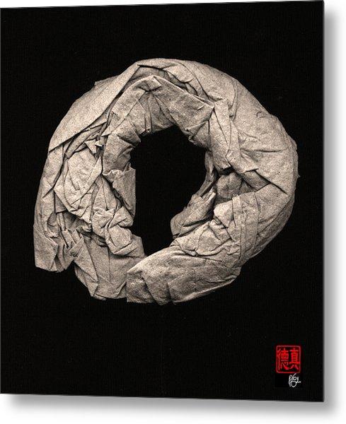 Paper Sculpture Zen Enso 2 Metal Print