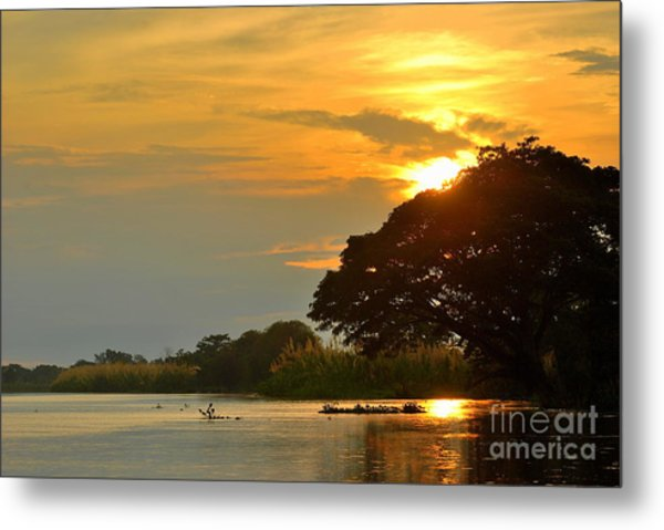Papua New Guinea Sunset Metal Print