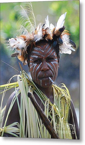Papuan Fisherwoman Metal Print