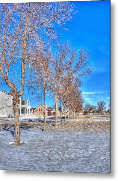 Parade Grounds - Fort Laramie  Metal Print by HW Kateley