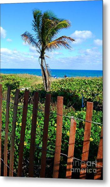 Paradise Beyond The Fence Line Metal Print