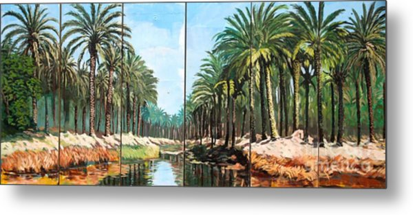 Paradise Canal - Basrah Iraq Metal Print by Unknown