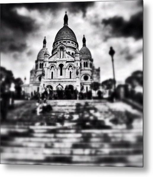 #paris #sky #skyporn #bnw #stairs Metal Print