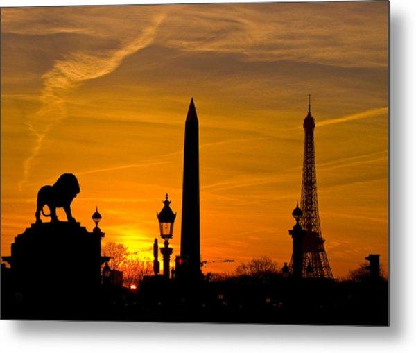 Paris Sunset Metal Print by Kurt Weiss