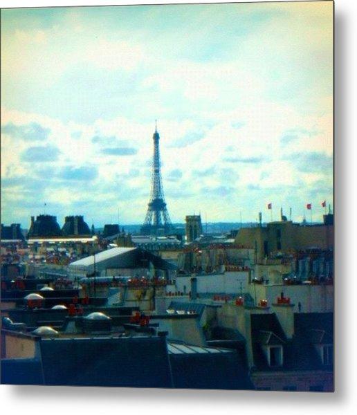 Parisian Rooftops Metal Print