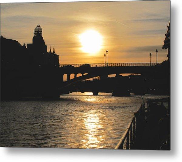 Parisian Sunset Metal Print