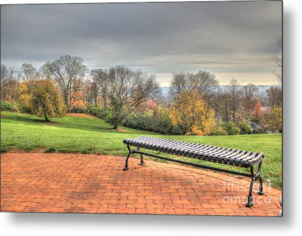 Park Bench Cincinnati Observatory Metal Print
