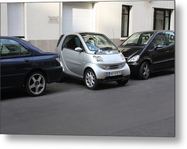 Parking In Paris Metal Print