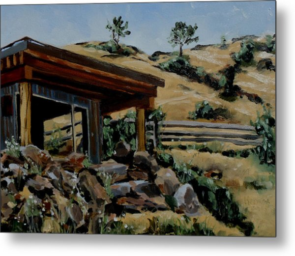 Park's Sauna Livingston  Mt Metal Print