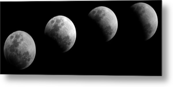 Partial Lunar Eclipse Metal Print