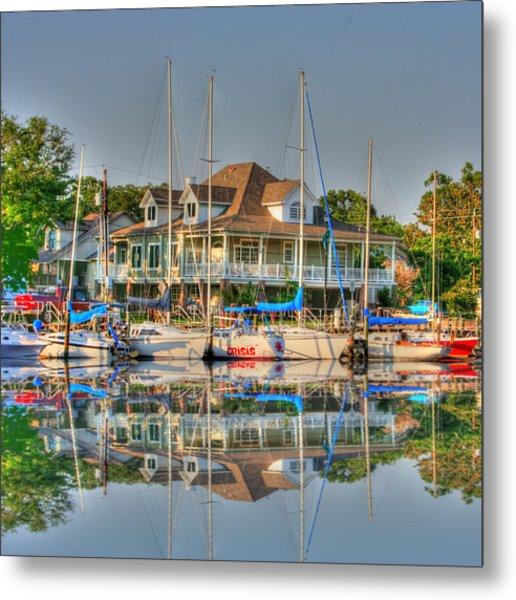 Pascagoula Boat Harbor Metal Print