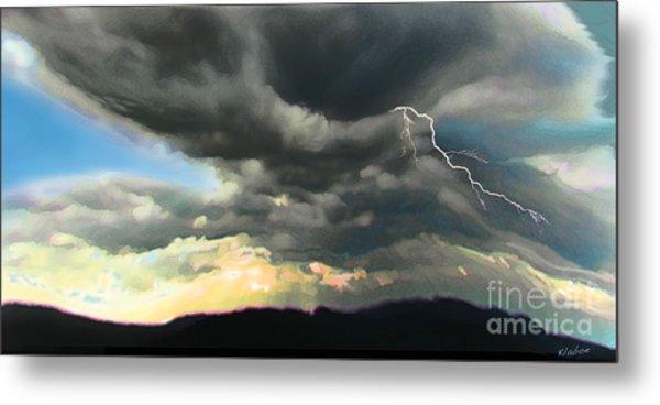 Passing Storm Metal Print by David Klaboe