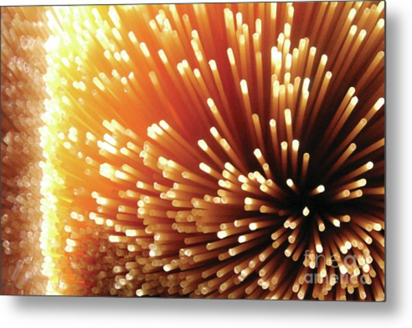Pasta Illumination Metal Print