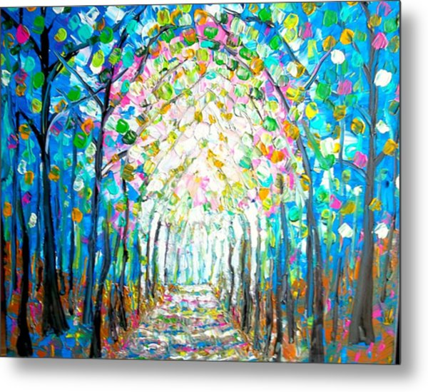 Path Through The Forest Metal Print