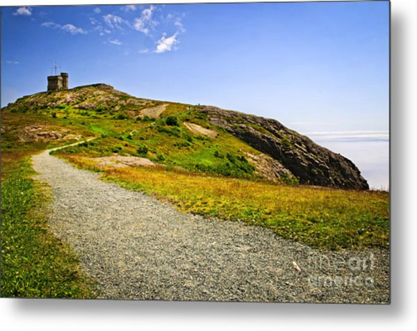 Path To Cabot Tower On Signal Hill Metal Print