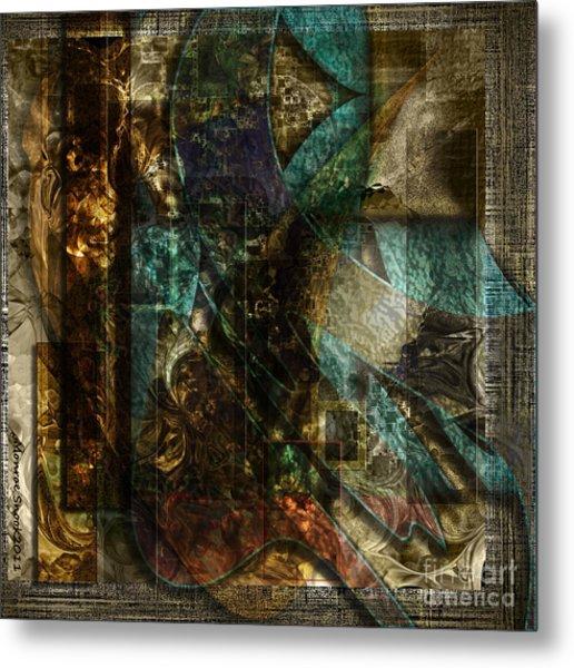 Pattern Down Metal Print by Monroe Snook