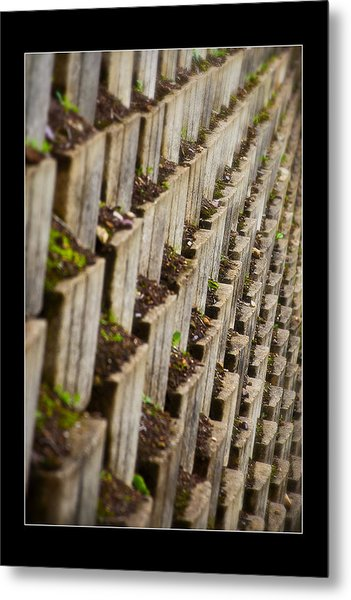 Pattern In The Carpark Metal Print by Miguel Capelo