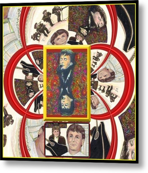 Paul Mccartney Beatles  Metal Print