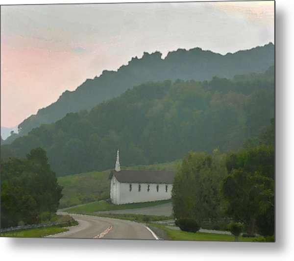 Metal Print featuring the digital art Peace In The Valley by Grace Dillon